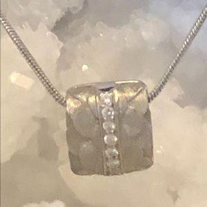 Michael Bondanza platinum diamond pendant
